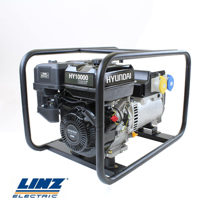 Hyundai HY10000 Hire Pro 7Kw Recoil Start Site Petrol Generator - HWB Car Parts