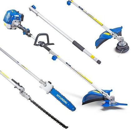 Refurbished Hyundai HYMT5200X Petrol Garden MULTI TOOL 5in1 Grass & Hedge Trimmer Strimmer Pole saw - HWB Car Parts