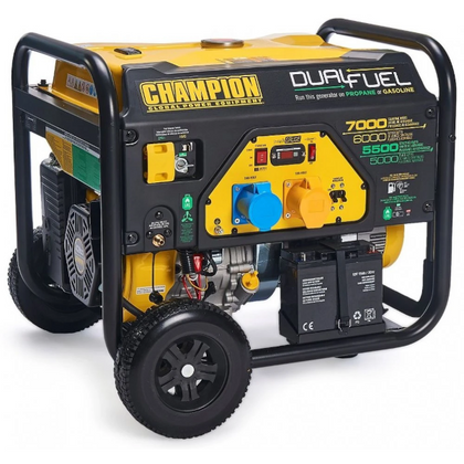 Champion CPG7500E2-DF 7000 Watt / 7kw LPG Dual Fuel Generator / Electric Start - HWB Car Parts