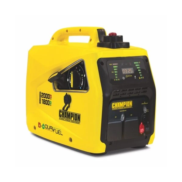 Champion 82001i-E-DF 2000 Watt / 2kw LPG Dual Fuel Inverter Generator