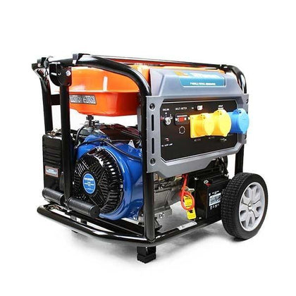P1PE P10000LE 7.9kW / 9.8kVA* Recoil and Electric Start Site Petrol Generator (Powered by Hyundai) - HWB Car Parts
