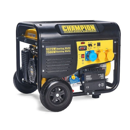 Champion CPG9000E2 8000 Watt / 8kw Electric Start Petrol Generator - HWB Car Parts