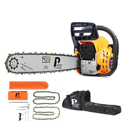 "P1PE P6220C 62cc / 20"" Petrol Chainsaw Easy Recoil Start + Carry Bag - HWB Car Parts"