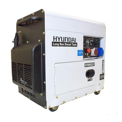 Hyundai DHY8000SELR-T 6kW Multi-phase - Single & 3-phase - Silenced Long Run Diesel Generator - HWB Car Parts