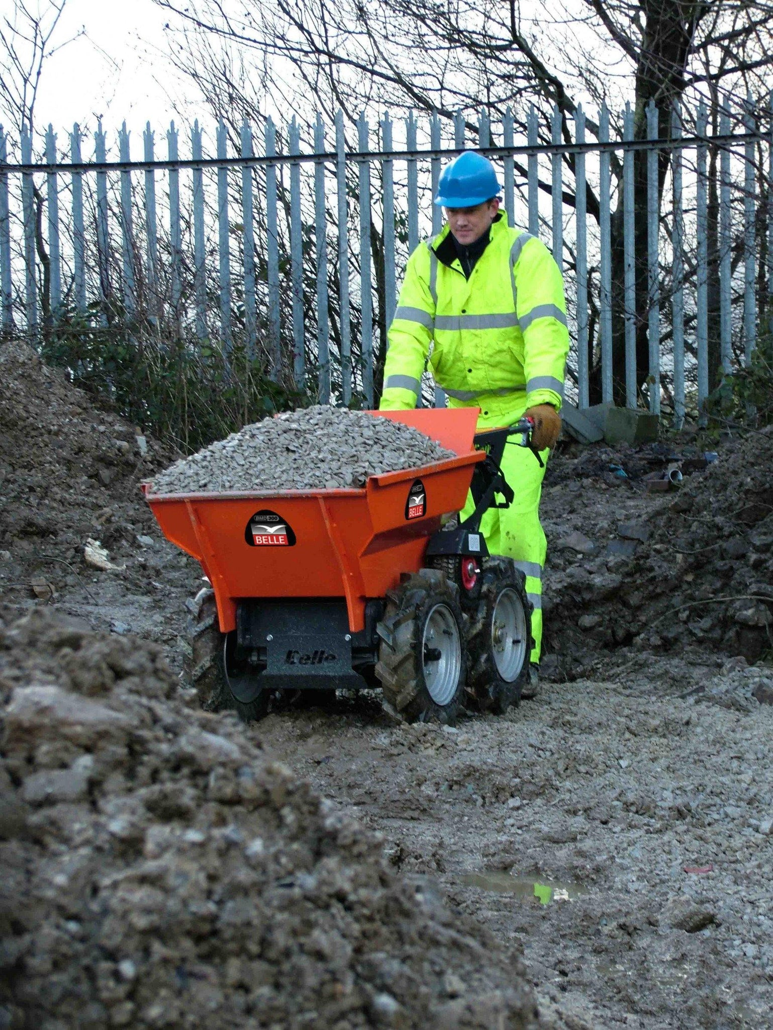 Belle BMD300 300kg payload Heavy Duty 4x4 Mini Wheeled Dumper Power Barrow