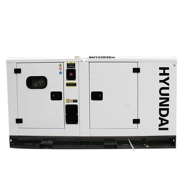 Hyundai DHY22KSEm 1500rpm 22kW/27.5kVA Single Phase Diesel Generator - HWB Car Parts