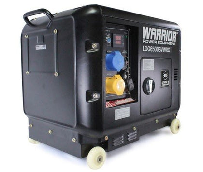 Warrior LDG6500SVWRC 6.25 kVa Diesel Generator with Wireless Remote - HWB Car Parts