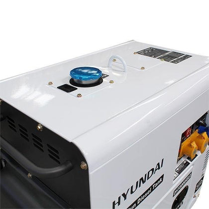 Hyundai DHY6000SE 5.2kW 115v/230v 'Silent' Diesel Generator (Silenced 3000rpm Air Cooled) - HWB Car Parts