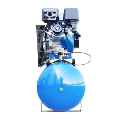 Hyundai HY140200PES 200L Electric Start Petrol Air Compressor Twin Cylinder Belt Drive - HWB Car Parts