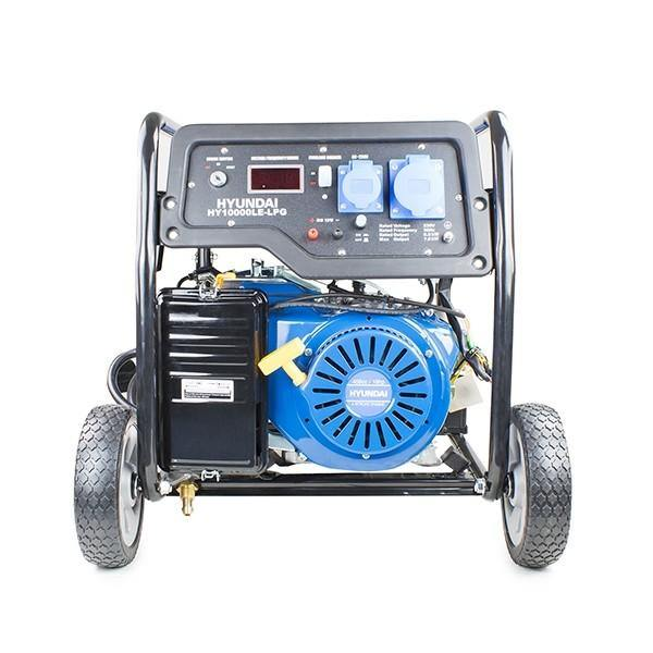 Hyundai HY10000LE-LPG  7.0kW/8.75kVA Recoil & Electric Start Dual Fuel Site Petrol/LPG Generator - HWB Car Parts