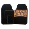 4 Piece Leopard Print Carpet Mat Set