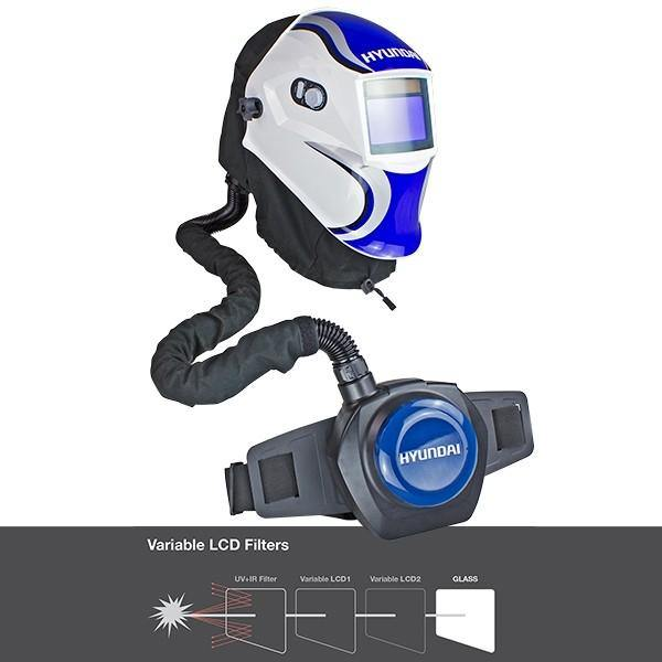 Hyundai HYWH-850RM Professional Auto Darkening Air Fed Welding Helmet - HWB Car Parts