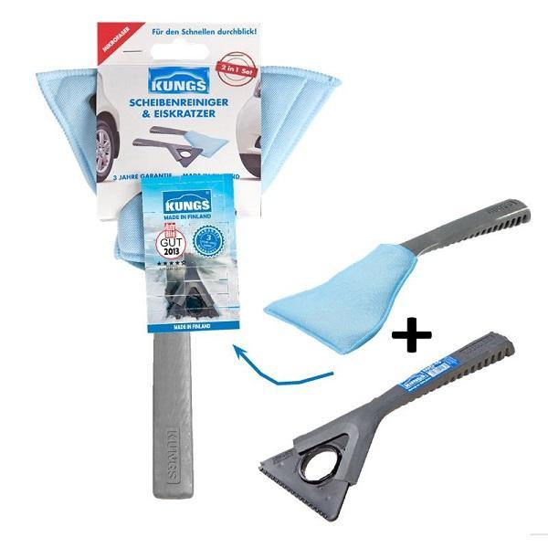 Eco Friendly 2 In 1 Ice Scraper And Demister Set