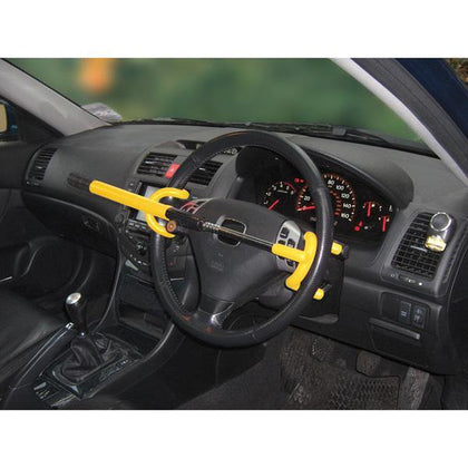 Car & Van Double Hook Steering Wheel Lock - HWB Car Parts
