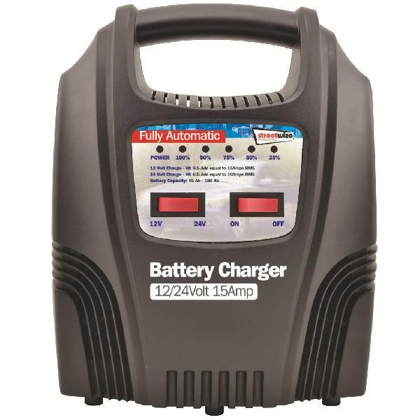 15amp Automatic Battery Charger with LEDs