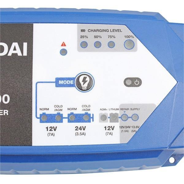 Hyundai HYSC-7000 SMART 24v and 12v Battery Charger