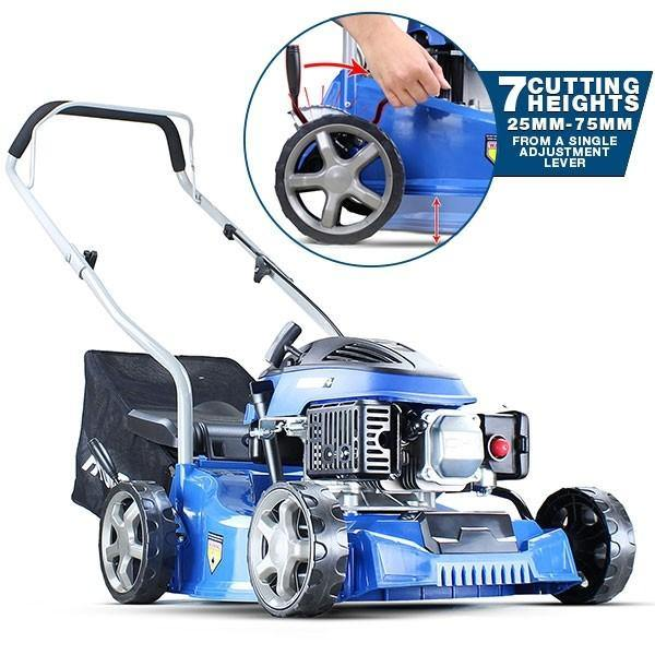 "Hyundai HYM400P 16"" 79cc / 400mm Push Rotary Petrol Lawn Mower Plus Free 500ml Oil"