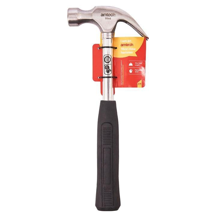 Amtech 16oz Polished Gs Claw Hammer - Steel Shaft