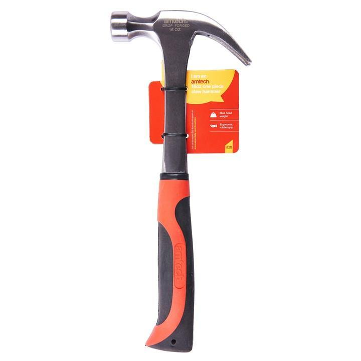 Amtech 16oz Claw Hammer - One Piece