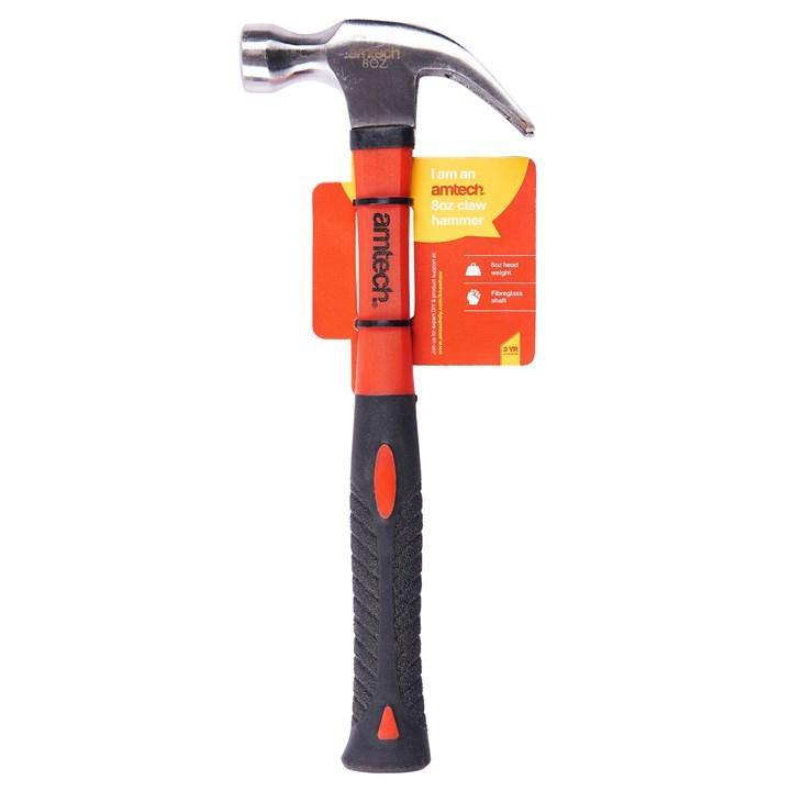 Amtech 8oz Claw Hammer - Fibreglass Shaft