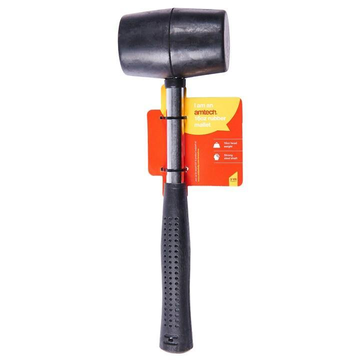 Amtech 16oz Rubber Mallet - Steel Shaft