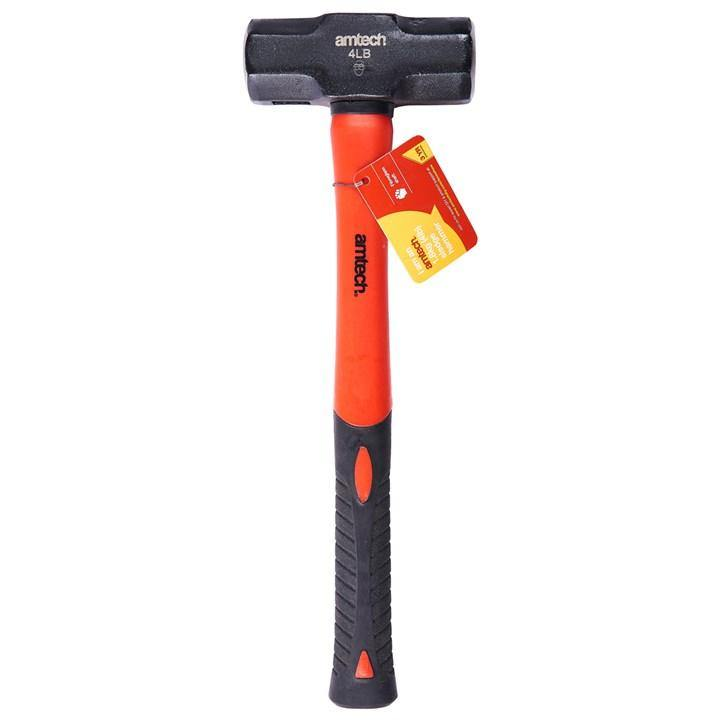 Amtech 1.8kg (4lb) Sledge Hammer - Fibreglass Shaft