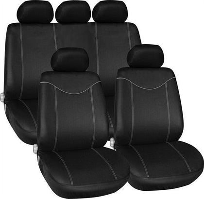 Alabama Seat Cover Set - Black & Grey - HWB Car Parts