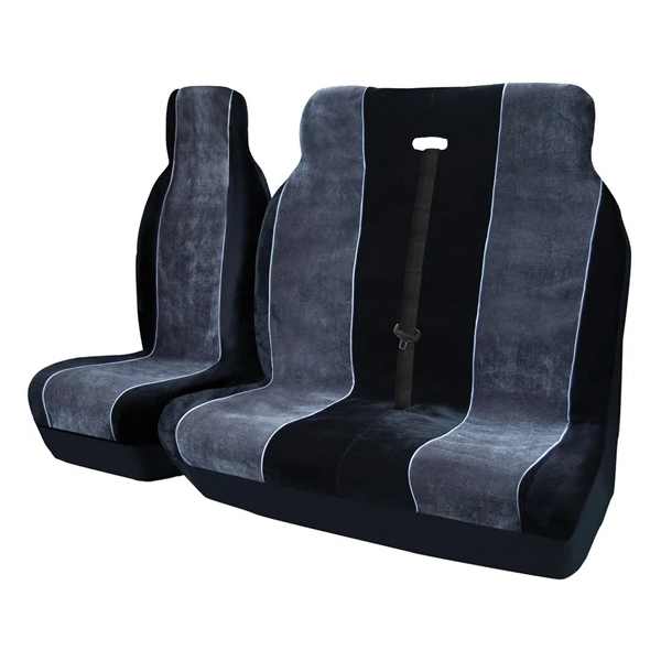 Alpha Van Seat Cover Set - Black & Grey