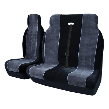 Alpha Van Seat Cover Set - Black & Grey - HWB Car Parts