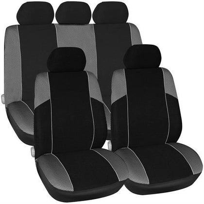 Arizona Seat Cover Set - Black & Grey - HWB Car Parts
