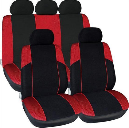 Arizona Seat Cover Set - Black & Red - HWB Car Parts