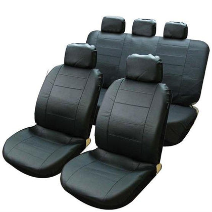 Connecticut Seat Cover Set - Black - HWB Car Parts