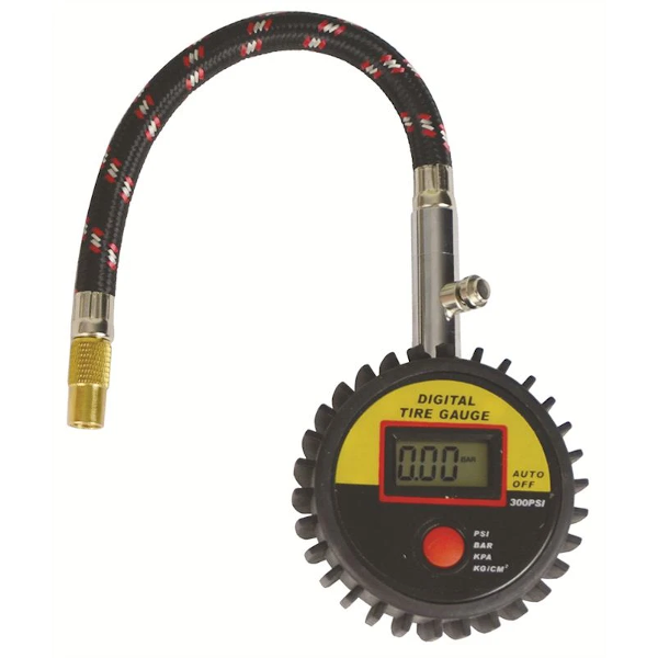 Digital Tyre Gauge with Hose - HWB Car Parts