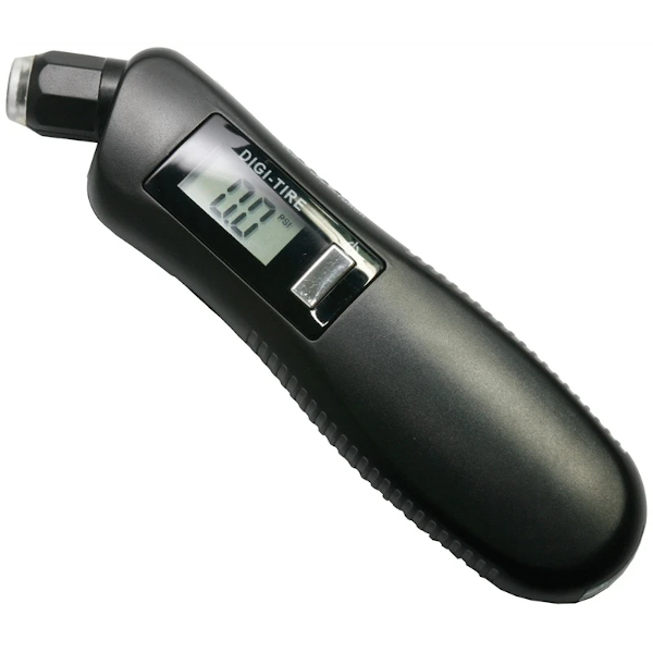 Digital Tyre Gauge with Illuminated Gauge and Flashlight - HWB Car Parts