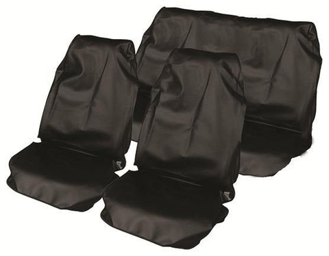Water Resistant Nylon Car Seat Cover Set - Black