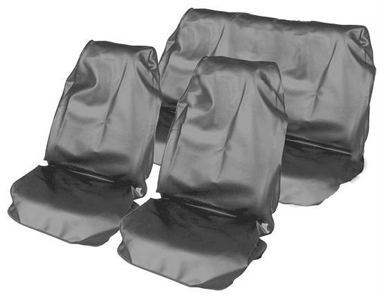 Water Resistant Nylon Car Seat Cover Set - Grey - HWB Car Parts