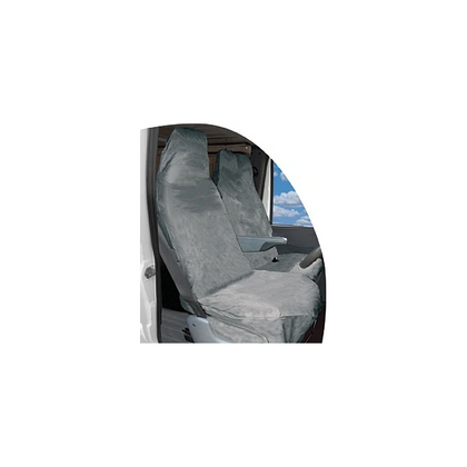 Grey Heavy Duty Van Seat Cover Set - HWB Car Parts