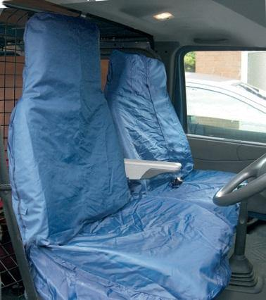 Heavy Duty Van Seat Cover Set - Navy Blue - HWB Car Parts