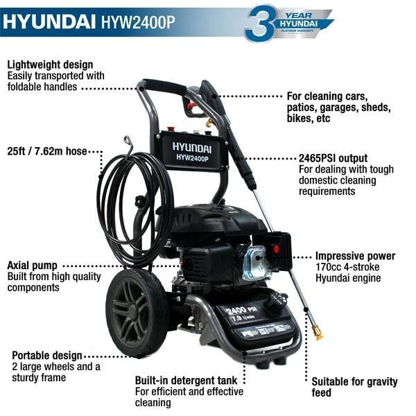 Hyundai  HYW2400P 2465psi Petrol Pressure Washer - HWB Car Parts