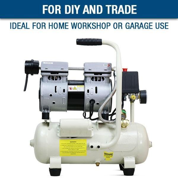 Hyundai HY5508 4CFM, 550w, 0.75HP, 8 Litre Oil Free Direct Drive Silenced Air Compressor