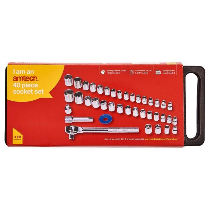 Amtech 40pc Socket Set