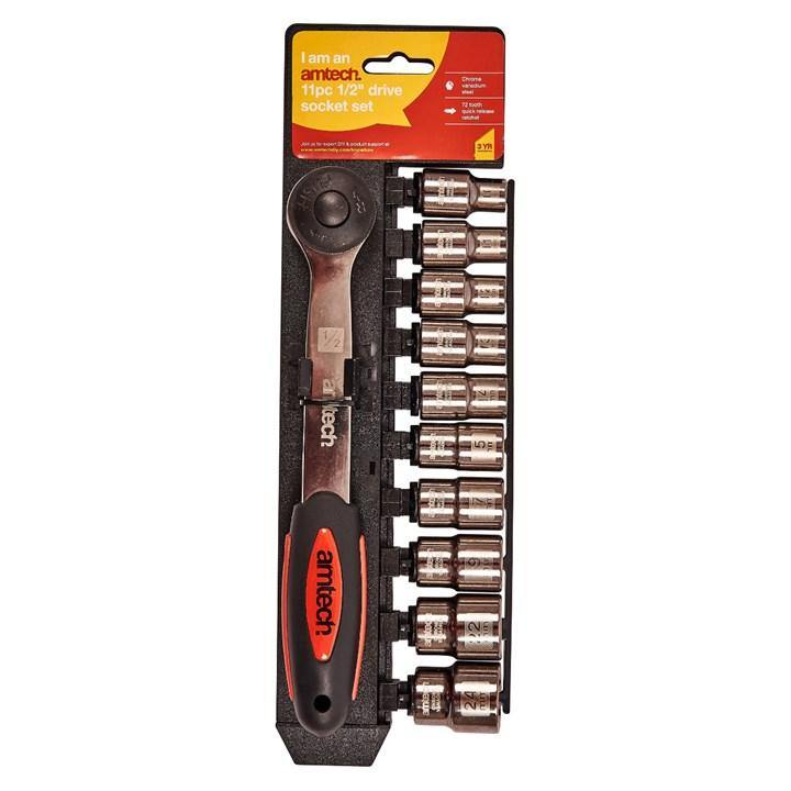 "Amtech 11pc 1/2"" Socket Set"