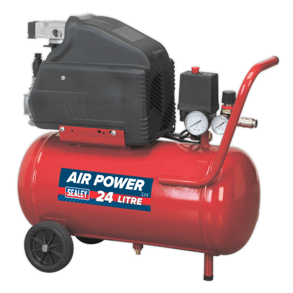 Sealey SA2415 Air Compressor 24L 6CFM Direct Drive 1.5hp - HWB Car Parts