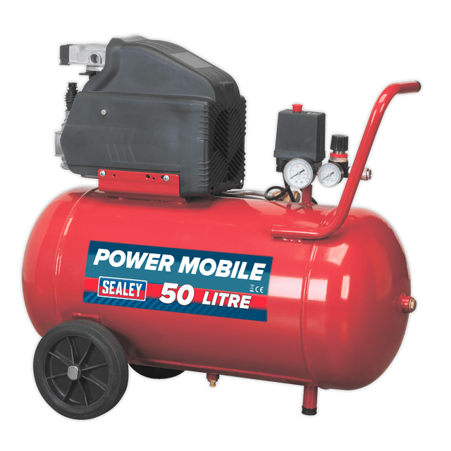 Sealey SA5020 Air Compressor 50L 7CFM Direct Drive 2hp