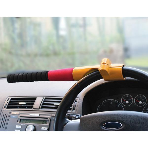 Baseball Bat Steering Wheel Lock - Yellow - HWB Car Parts