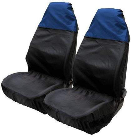 Two tone seat protector black blue - HWB Car Parts