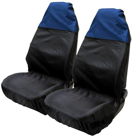 Two tone seat protector black/blue