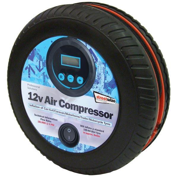 Tyre Shape 250psi Digital Air Compressor - HWB Car Parts