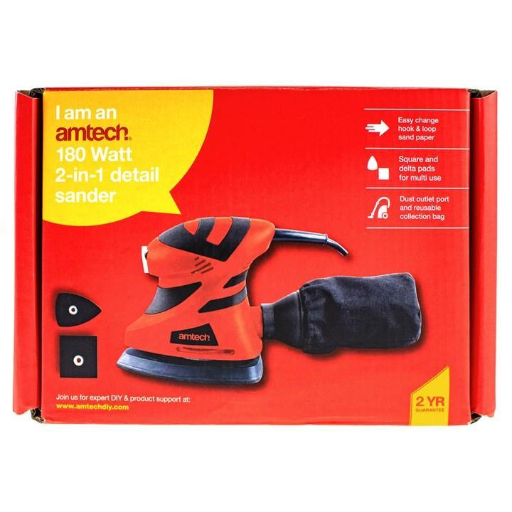 Amtech 180W 2-in-1 Detail Sander
