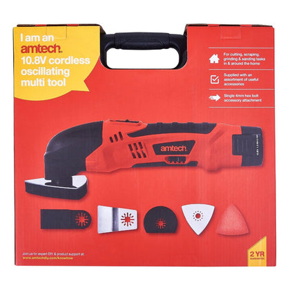 Amtech 10.8V Li-Ion Cordless Oscillating Multi Tool - HWB Car Parts